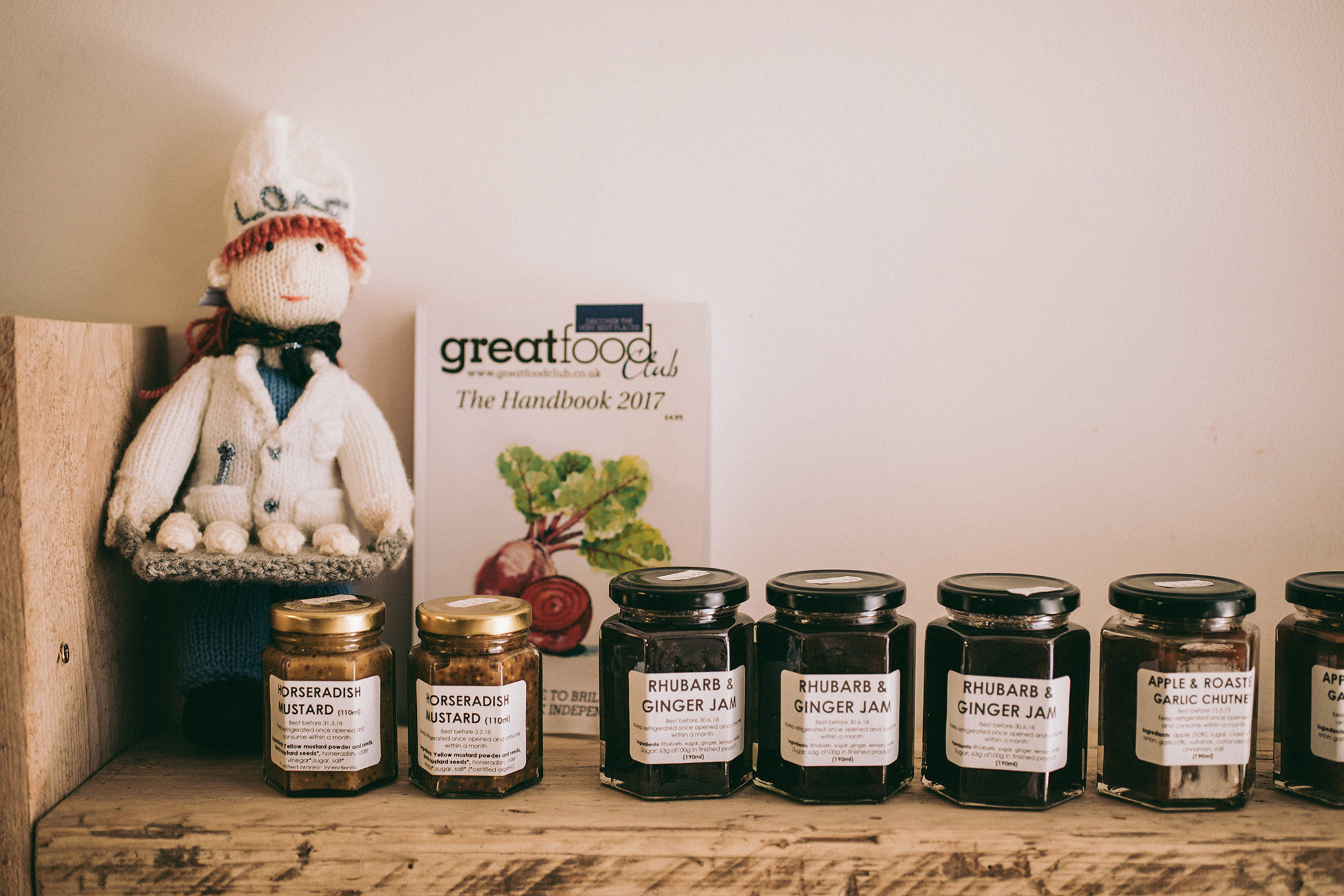Photo of preserves on a shelf